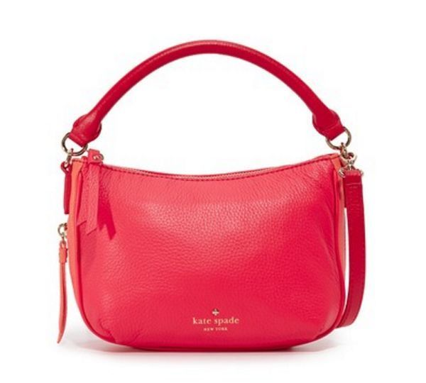 KATE SPADE NEW YORK Cobble Hill Pebbled Colorblock Leather Mini Ella Shoulder Bag / Crossbody Bag. Sleek and compact with contrasting trims, this top-handle kate spade new york crossbody is a seamless addition to your off-duty wardrobe.   eBay!