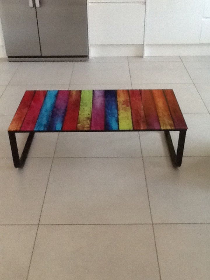 Coloured Coffee Table The