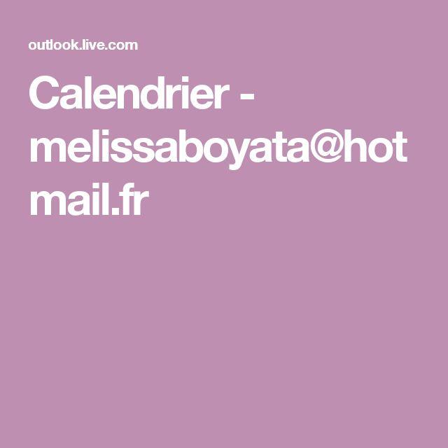 Calendrier - melissaboyata@hotmail.fr