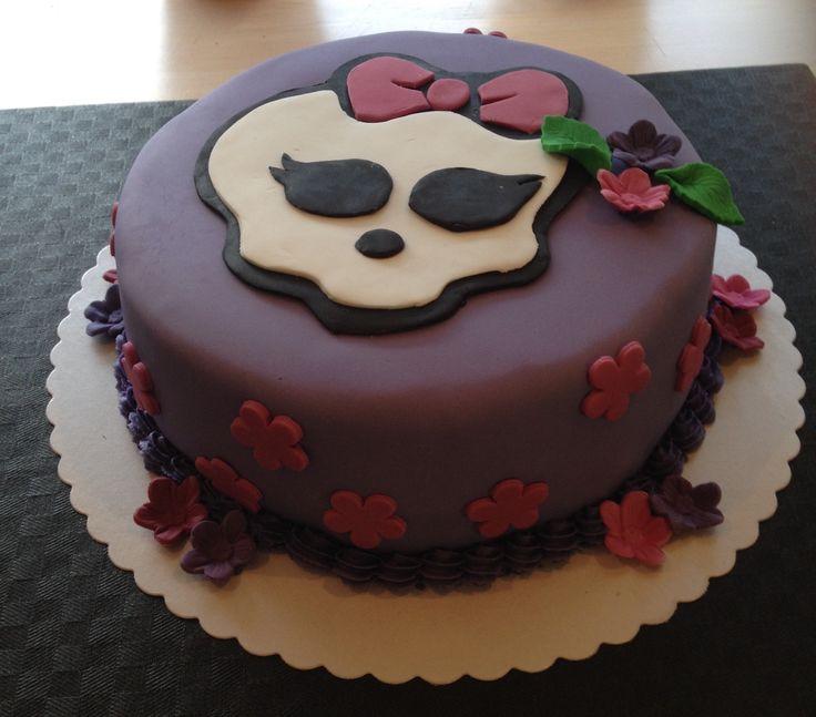Monster High kage med blomster.