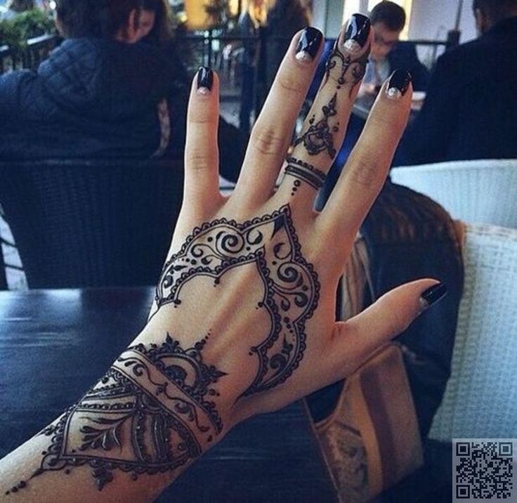 Mehndi Inspired Henna Tattoo