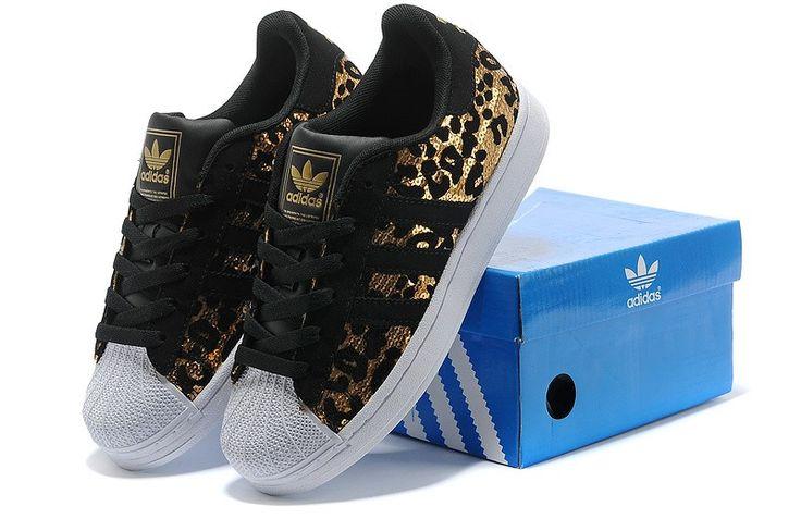 Low priced Adidas Superstar 2 Originals Shoes Australia Leopard Sparkle Gold Black