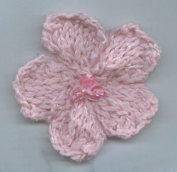 Knit A Flower Embellishment Knitting Pinterest Knitting Extraordinary Free Knitted Flower Patterns