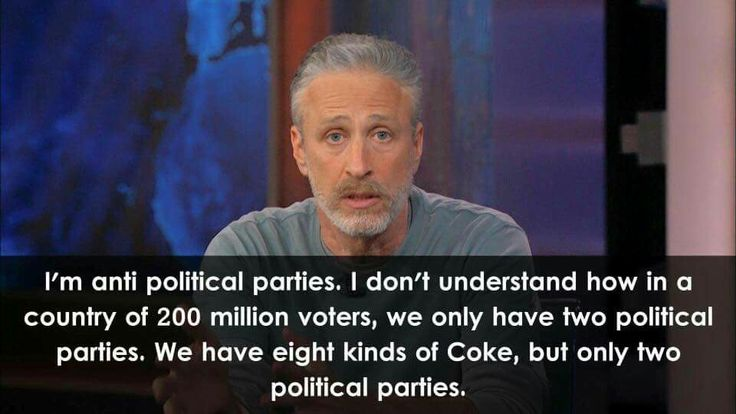 We actually have more than two political parties but they cannot seem to get any traction due to media bias and the stranglehold over the ballot by the two predominant parties.
