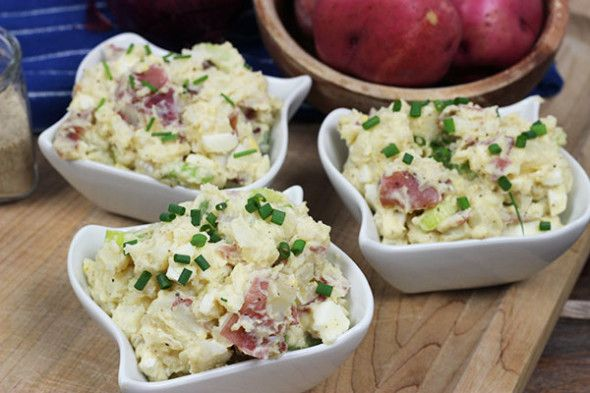 Southern Style Red Potato Salad #summer #potatosalad #picnic