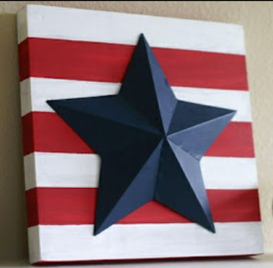 Quick easy patriotic crafts diy projects - for 4th of July, Memorial day weekend, the olympics, veteran's day, etc
