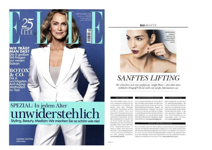 #hydrafacial featured in German Elle September 2013 #skincare #skinhealth