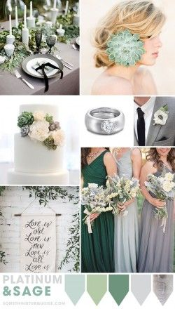Platinum and Sage wedding theme ideas