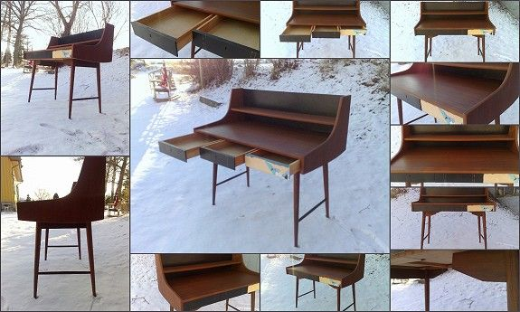 OLAPULTEN Topp Skrivebord Jon Texmon Design 1957 Blindheim 1962 Great Scandinavian Design Icon!