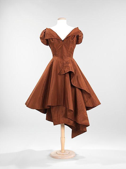 1952 Charles James silk dress