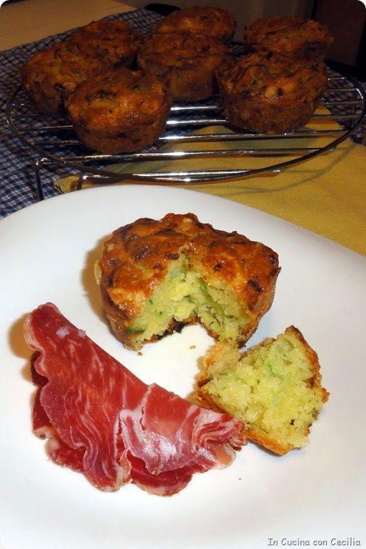 Oggi non pane ma muffins alle zucchine e formaggio...