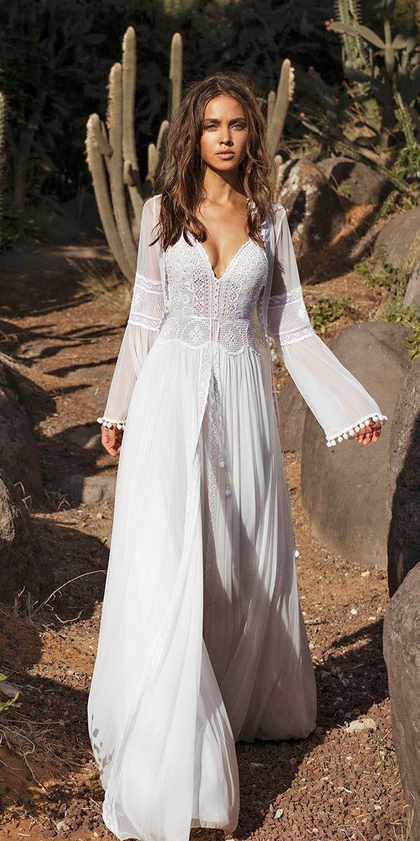 21 Amazing Boho Wedding Dresses With Sleeves