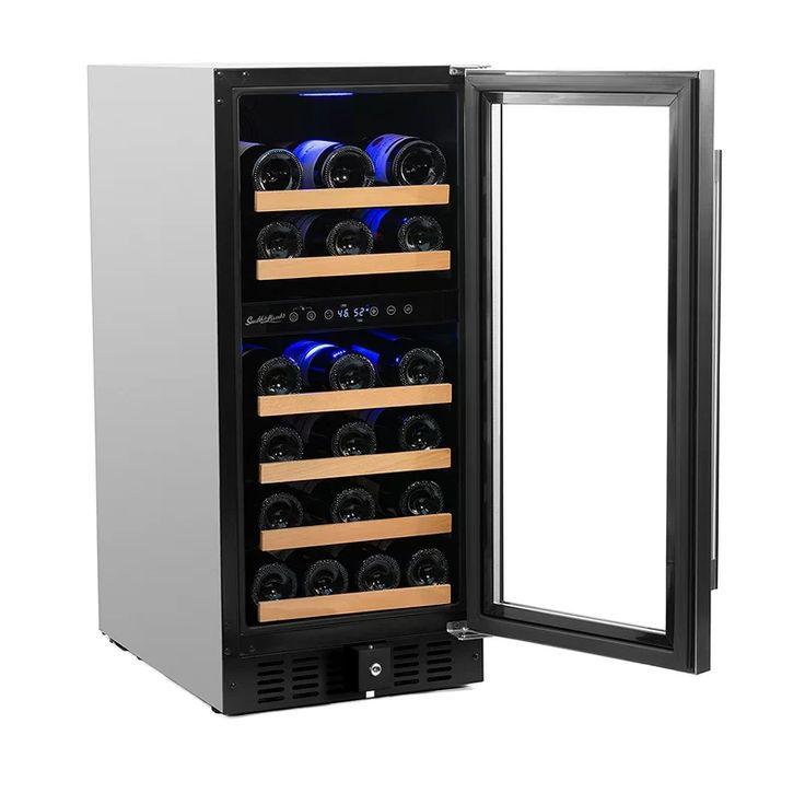 32 bottle dual zone freestandingbuiltin wine