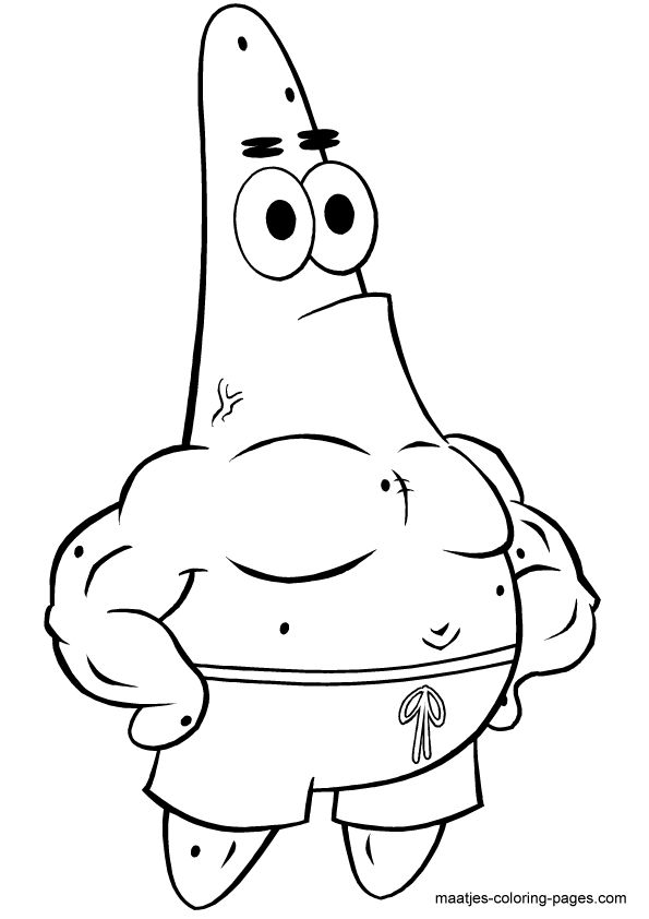 Cartoon Coloring Pages Spongebob Patrick Star StarFull Size Image