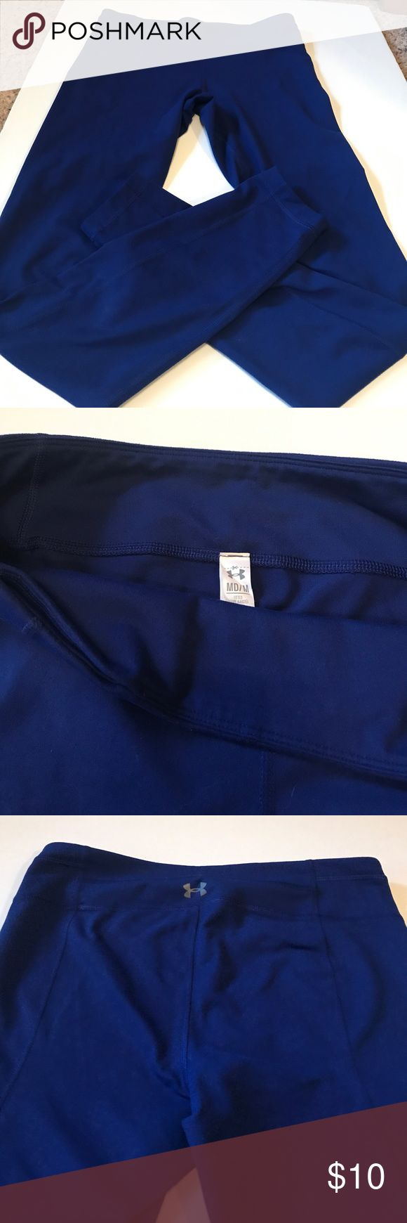 Royal blue Under Armour long large workout pants Royal blue workout tights. Size Medium. Great shape. Key pocket. Under Armour Pants Leggings