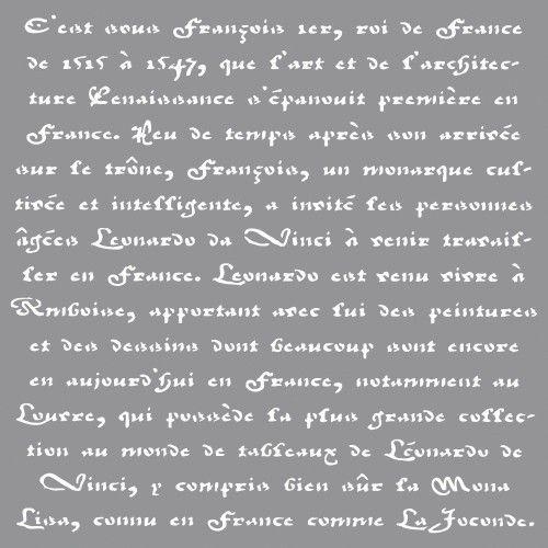 Šablona+-+franc.písmo,+30,5x30,5cm+Rozměr+šablony+30,5x30,5cm,+obsahuje+motivy+jako+na+obrázku.+Šablona+je+výborná+na+tupování+i+savování.+Na+textil+i+decoupage.+Šablonu+připevníte+k+textilu+buď+papírovou+páskou,+nebo+fixačním+sprejem+(s+tím+je+příjemnější+práce).+Při+savování+si+nezapomeňte+zakrýt+okolí+šablony.+Nevhodné+pro+děti+do+3+let.