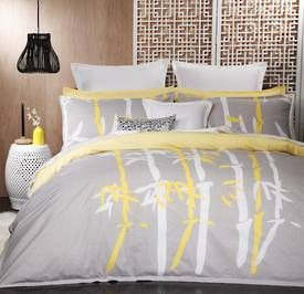 Logan and Mason Bamboo Silver Duvet Cover Set - view full collection - duvet covers - queenb