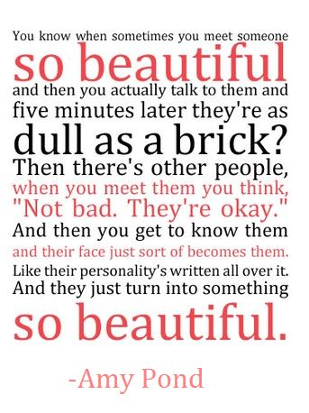 Day twenty four: favorite quote, amy pond on beauty, this was a tough decision, but this quote is perfect