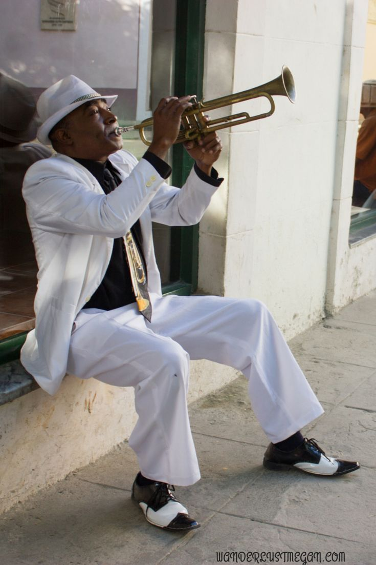 Musician playing in Havana, Cuba ❤ Some destinations remain for good in ours memory, Cuba is one of them.