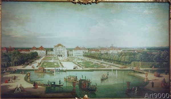 Bernardo Bellotto - Schloß Nymphenburg von der Parkseite