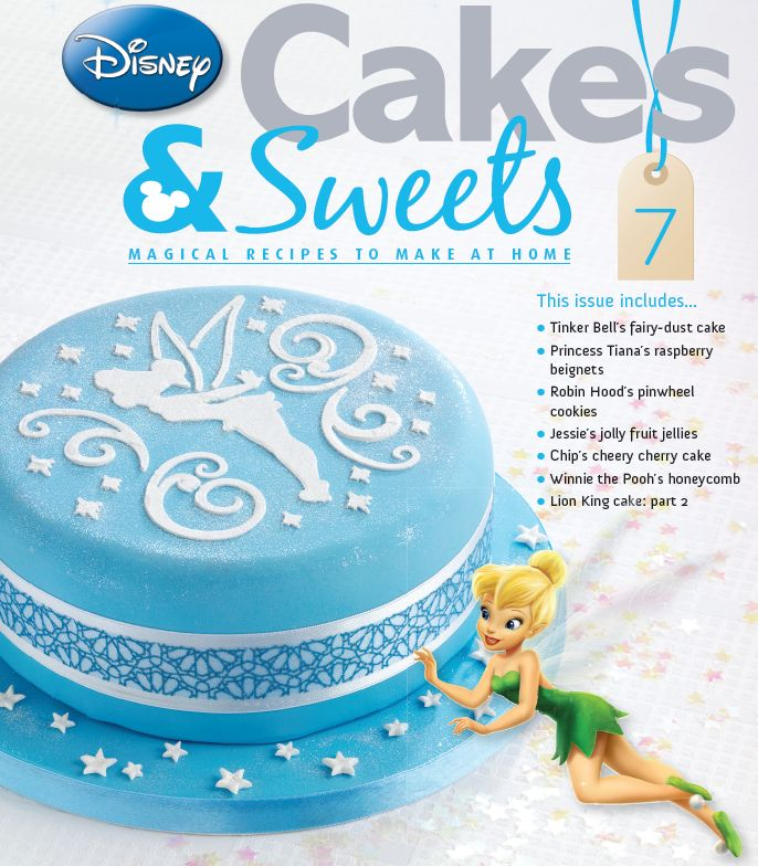 Add some sparkle to your baking with issue 7 with the Tinkerbell stencil. #disneycakesandsweets