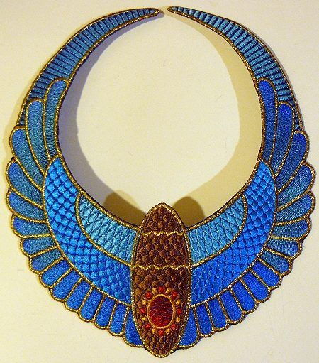 Advanced Embroidery Designs Ancient Egypt Necklace