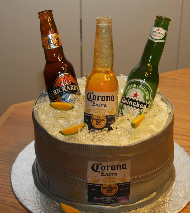 Decorated Alcohol Bottles For Birthday: Beer Cakes, Beer And Bottle On Pinterest