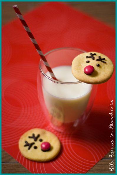 Biscotti a forma di renna (Rudolph cookies) #lapatataingiacchetta