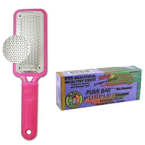 Microplane Foot File Colossal Callus Remover Pink Color+ Mr Pumice Coarse Purple Pumi Bar