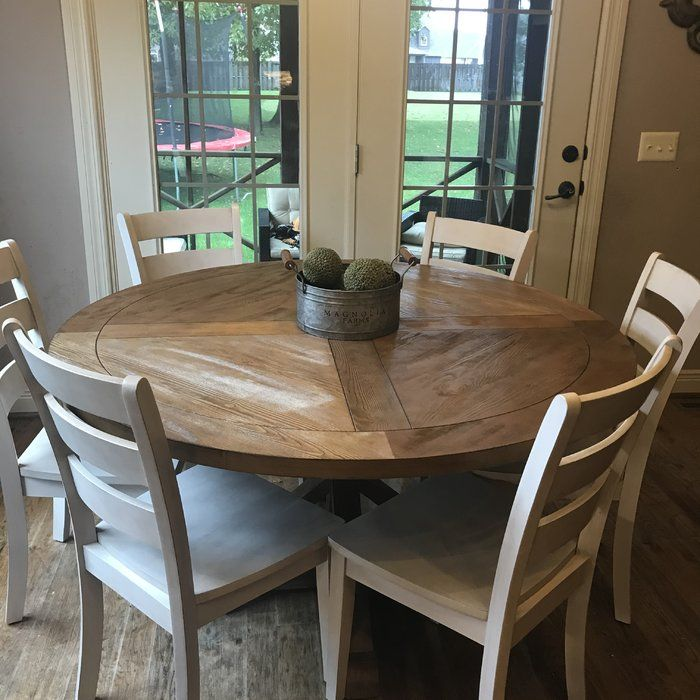 Peralta Round Rustic Dining Table Reviews Allmodern Round Wood Dining Table Kitchen Table Settings Round Kitchen Table