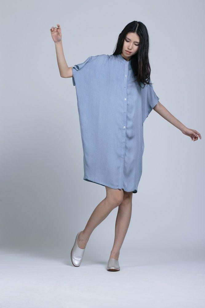 KAAREM Xu Xa Dolman Shirt Dress