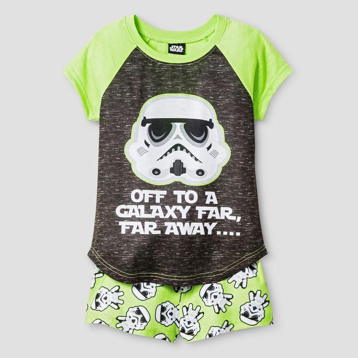 Big Girls' Pajama Set Green - Star Wars