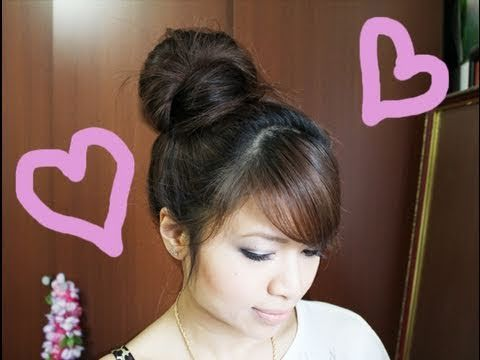 Click here to watch an archive of my hair tutorials: http://www.youtube.com/playlist?list=PLD4D5DE6CCCF00AF4    Cute, quick, and easy high hair bun with a fancy twist! Hey guys, this no-tease high hair bun tutorial was requested numerous times since I did my first one that required a lot of teasing!  There are many ways to create a hair bun but ...