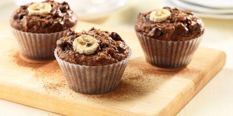 Cocoa Banana Bran Muffins