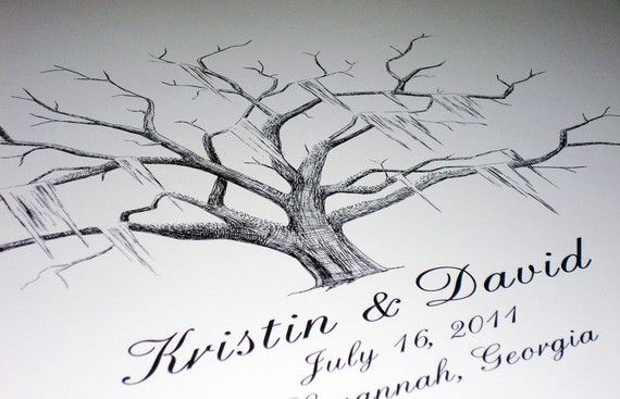 Choose this interactive alternative to document your unforgettable event with a thumbprint and signature from each guest.