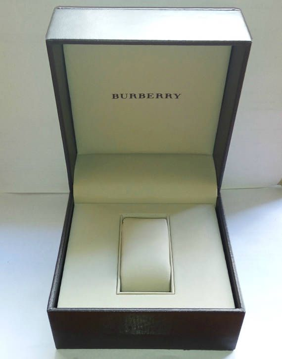 Burberry Dark brown watch box case