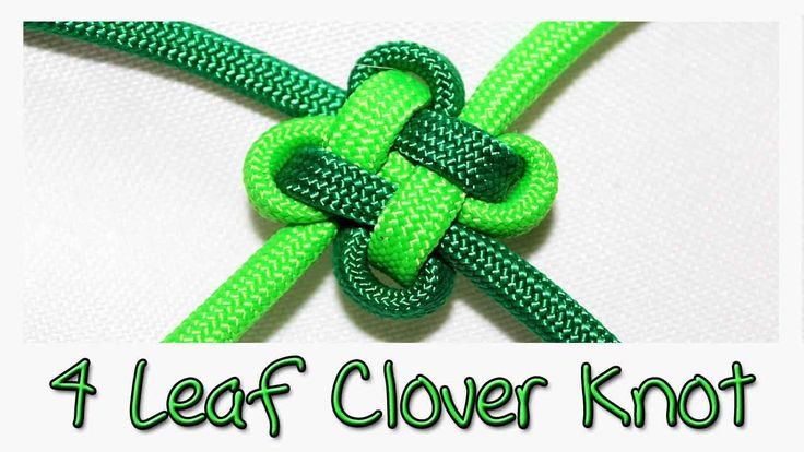Tutorial: 4 Leaf Clover Knot