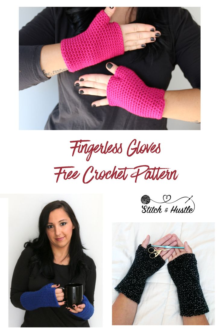 Fingerless gloves free crochet pattern