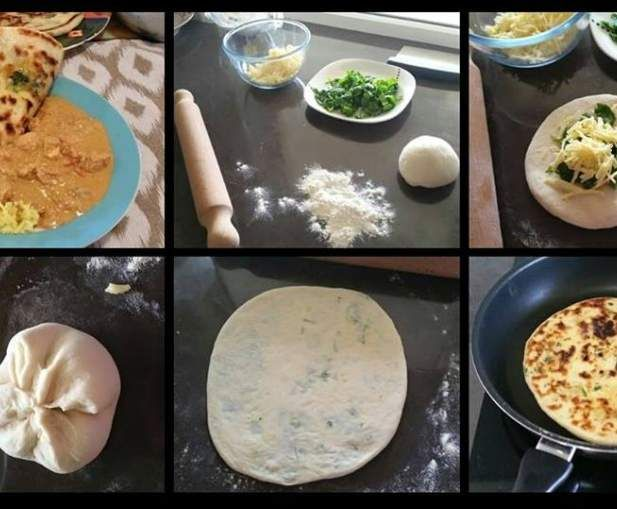 Recipe Garlic, Cheese & Spinach Naan - Thermomumma by _b_e_v_ - Recipe of category Breads & rolls