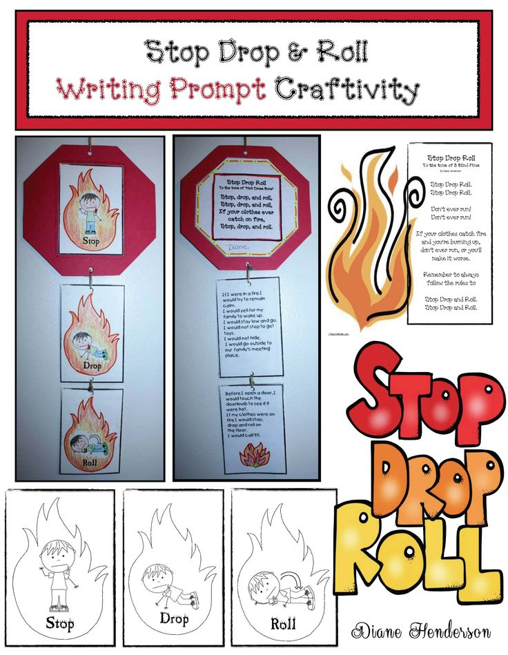 Stop Drop and Roll Craftivity Fire safety activities