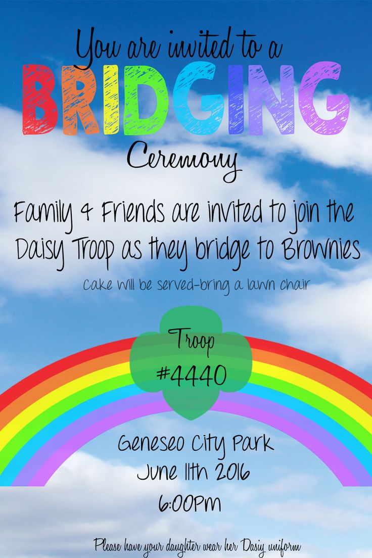 Girl Scouts Bridging Ceremony Invitation Daisy to Brownie ...