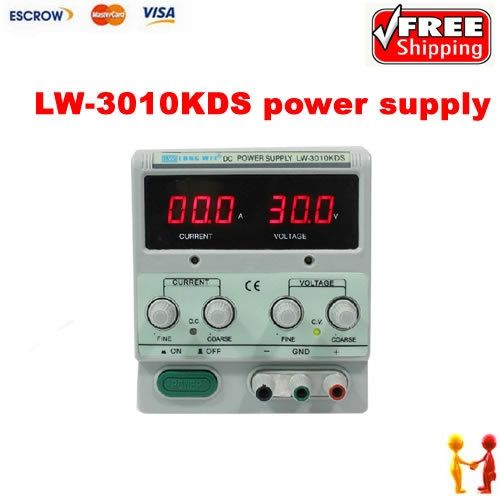 125.00$  Buy here - http://alijvm.worldwells.pw/go.php?t=1942417007 - Switched-mode power supply LW-3010KDS 0-30V 0-10A switching DC power supply