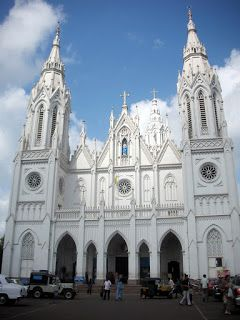 Sprawling Basilica of Our Lady of Dolours,Thrissur,Kerala, S.India one of the tallest churches in Asia ~ Navrang India