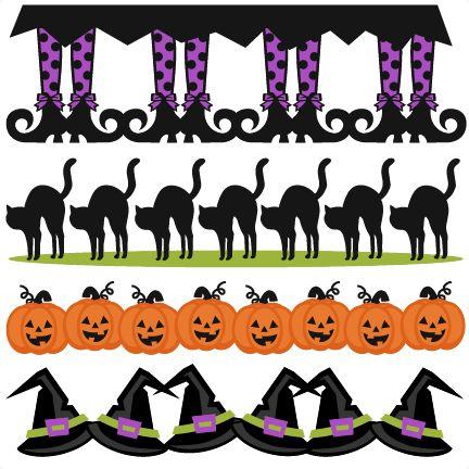 Halloween Borders SVG scrapbook cut file cute clipart files for silhouette cricut pazzles free svgs free svg cuts cute cut files