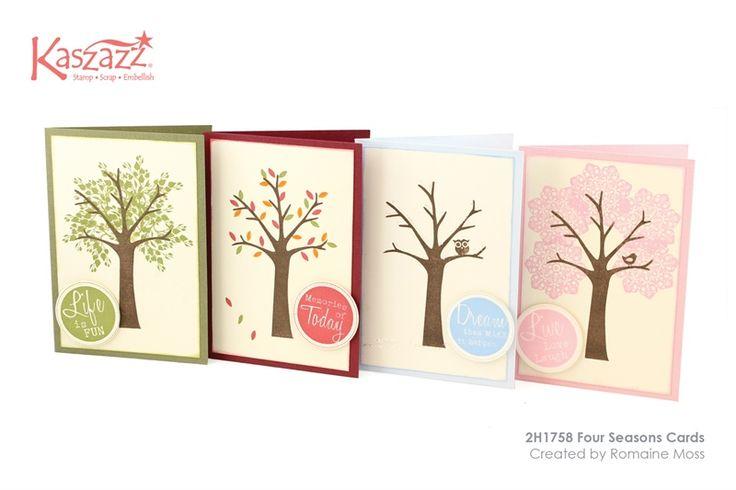 2H1758 Four Seasons Cards