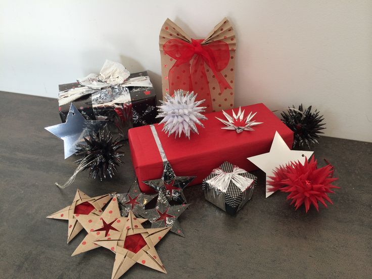 Selection of black, red, white and silver Phoenix wrap and accessories display