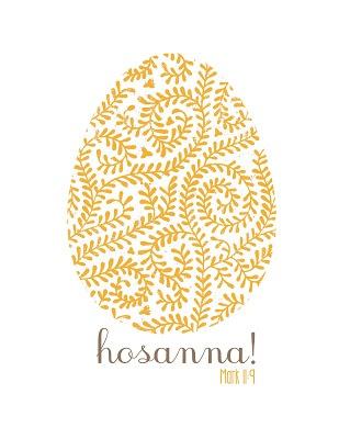 Semi Homemade Mom: Free Hosanna! Easter Printables