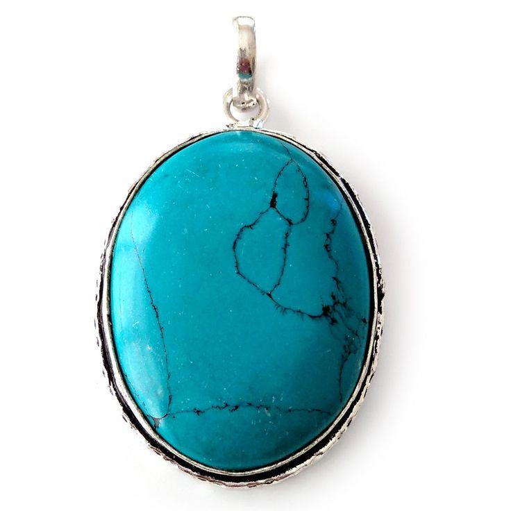 925 Silver Overlay Turquoise Pendant Silver Oxidized Pendant #Handmade
