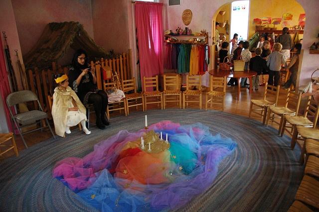 san francisco waldorf school - setting for the birthday celebration