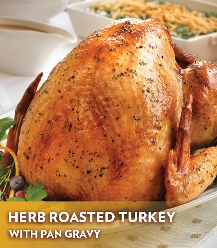 ... to this Herb Roasted Turkey with Pan Gravy recipe is chicken broth